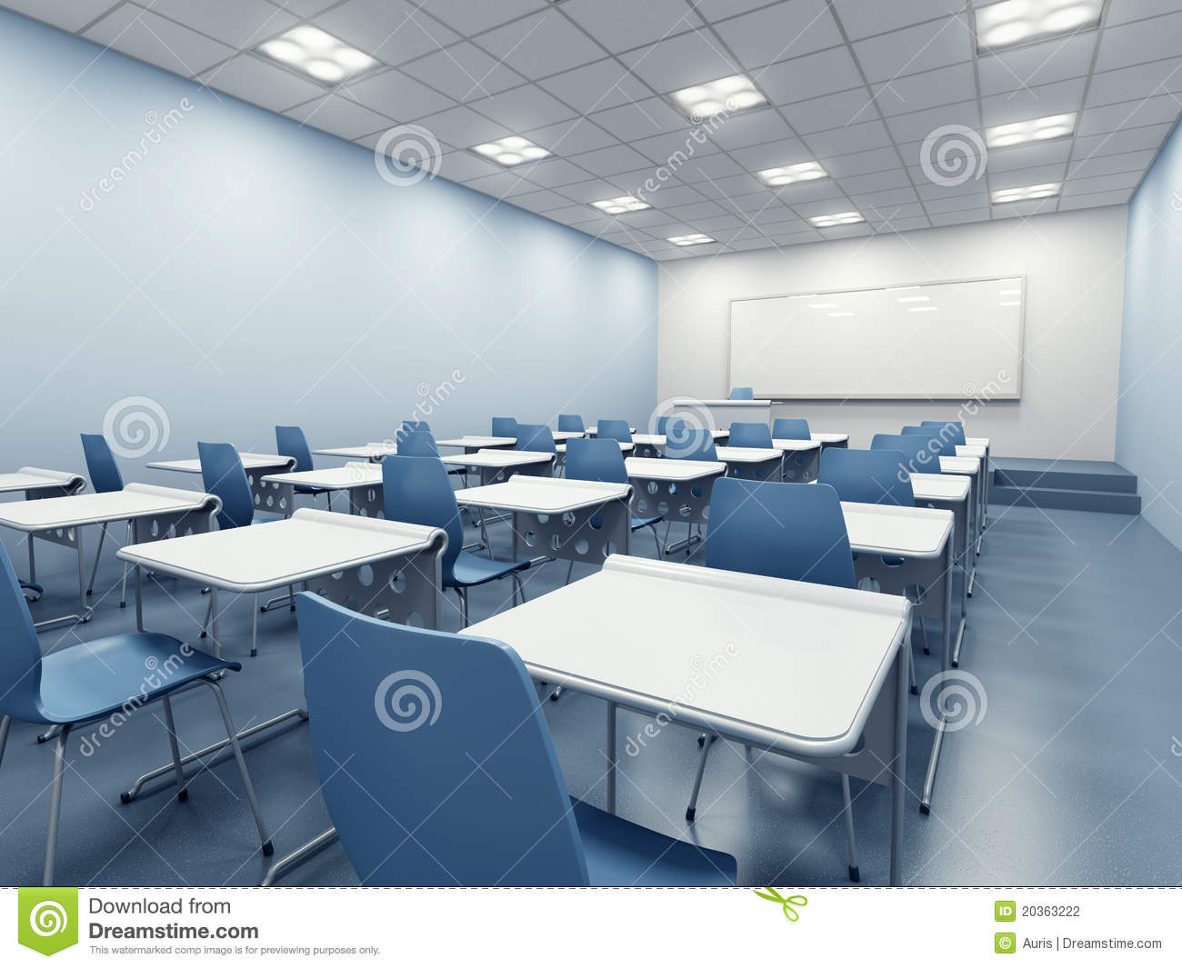 Modern Classroom Management : Modern classroom interior stock photography image