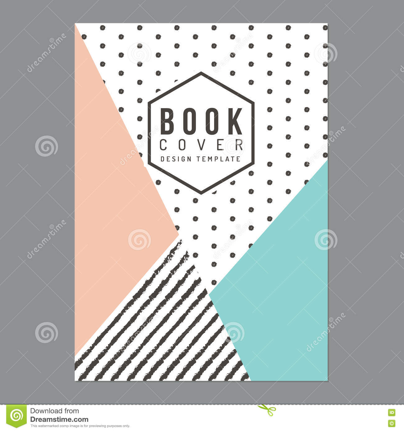 Book Cover Typography Map ~ Modern clean book cover poster flyer brochure company
