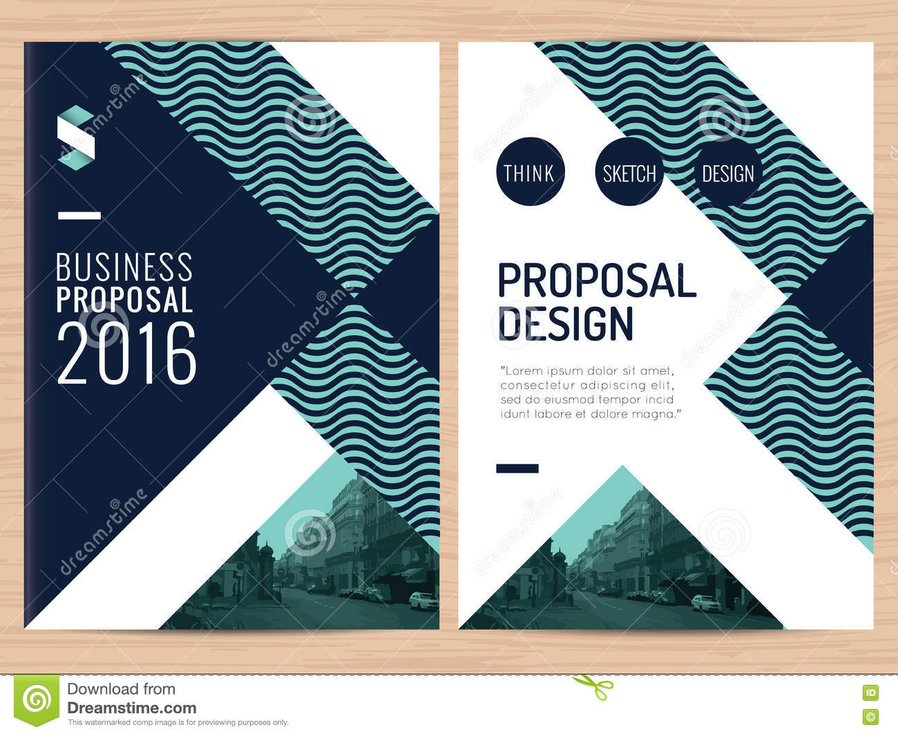 Modern Clean Business Proposal Annual Report Brochure Flyer