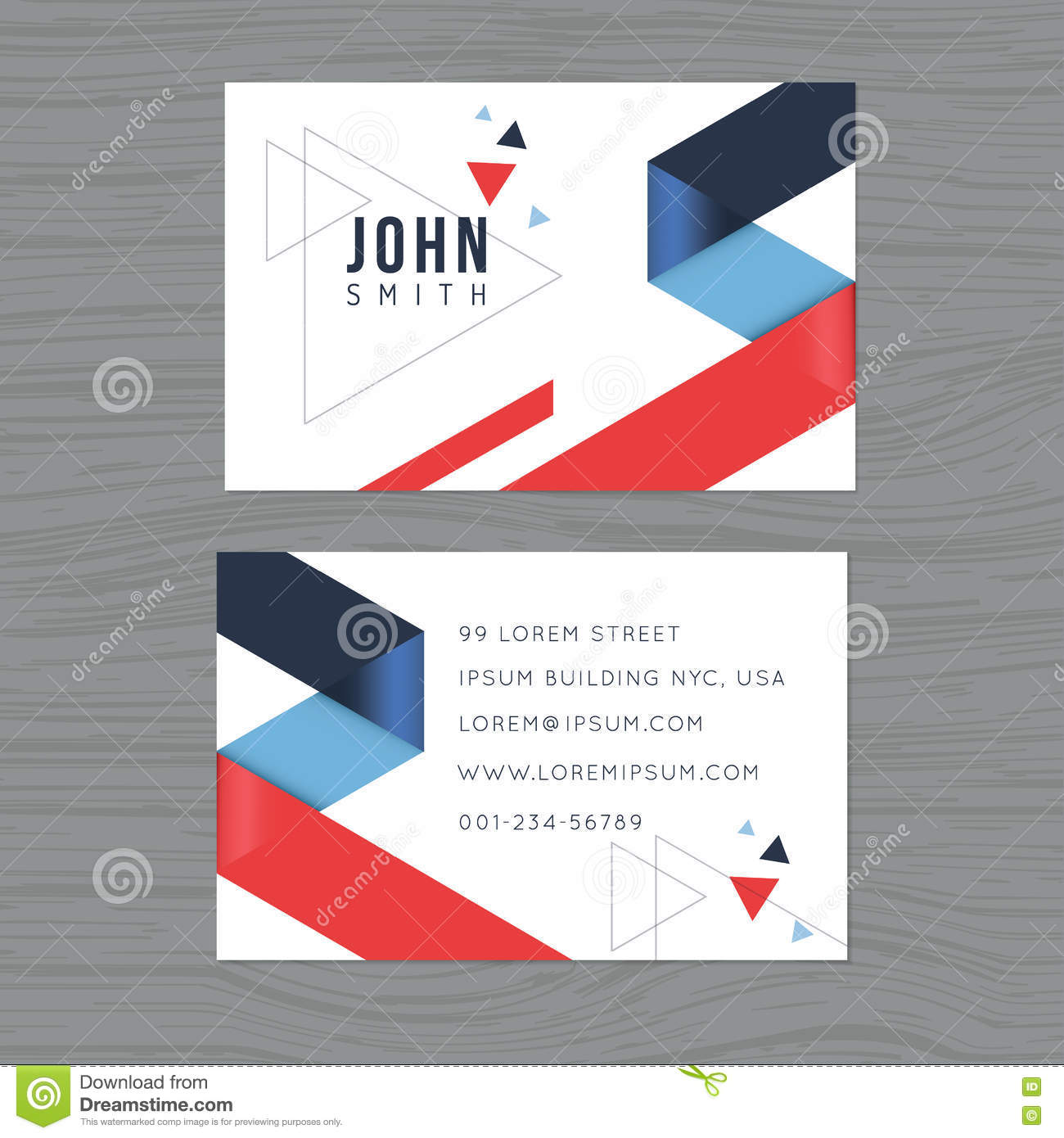 Modern and clean design business card template in blue and red download comp flashek Choice Image