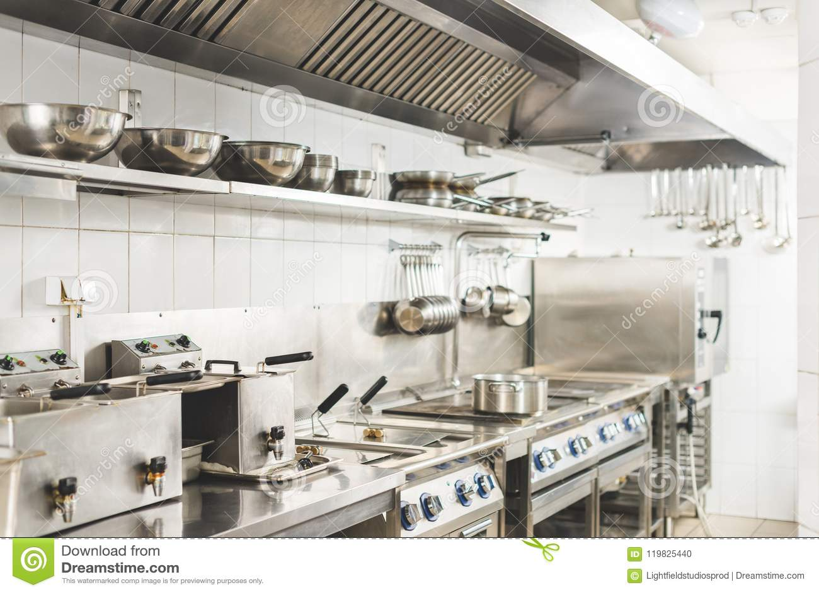 modern clean restaurant kitchen