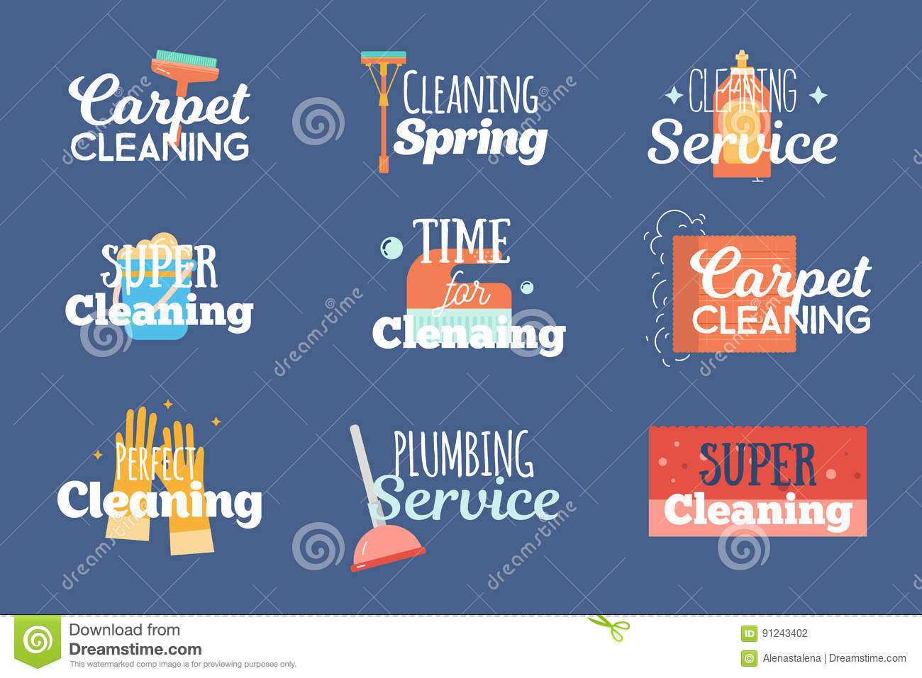 Modern cleaning and plumbing services labels logos badges set with download modern cleaning and plumbing services labels logos badges set with wash sponge ccuart Images