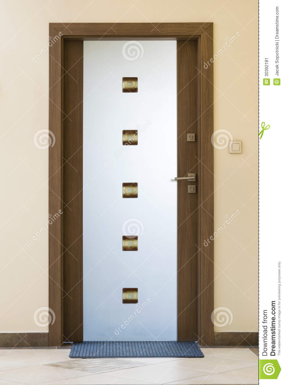 Modern Door Bell Royalty Free Stock Image Cartoondealer