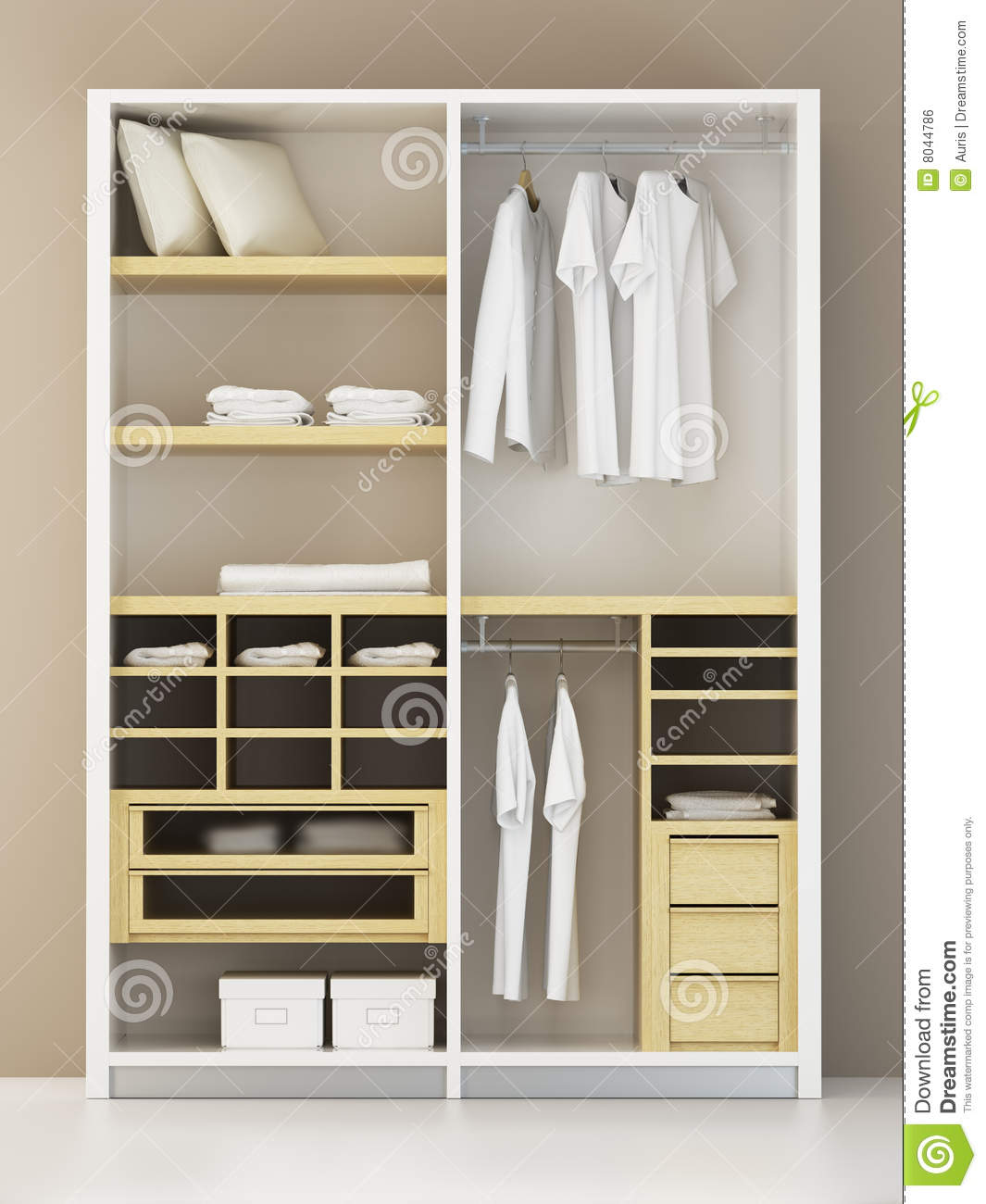 Modern Closet 3d Rendering Royalty Free Stock Image