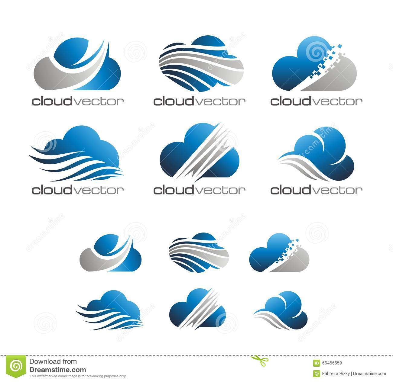 modern cloud logo vector stock illustration illustration