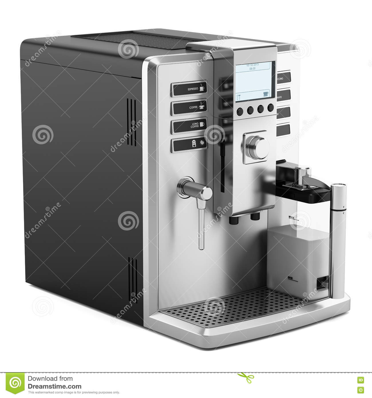 modern coffee machine isolated on white stock illustration  image  - modern coffee machine isolated on white