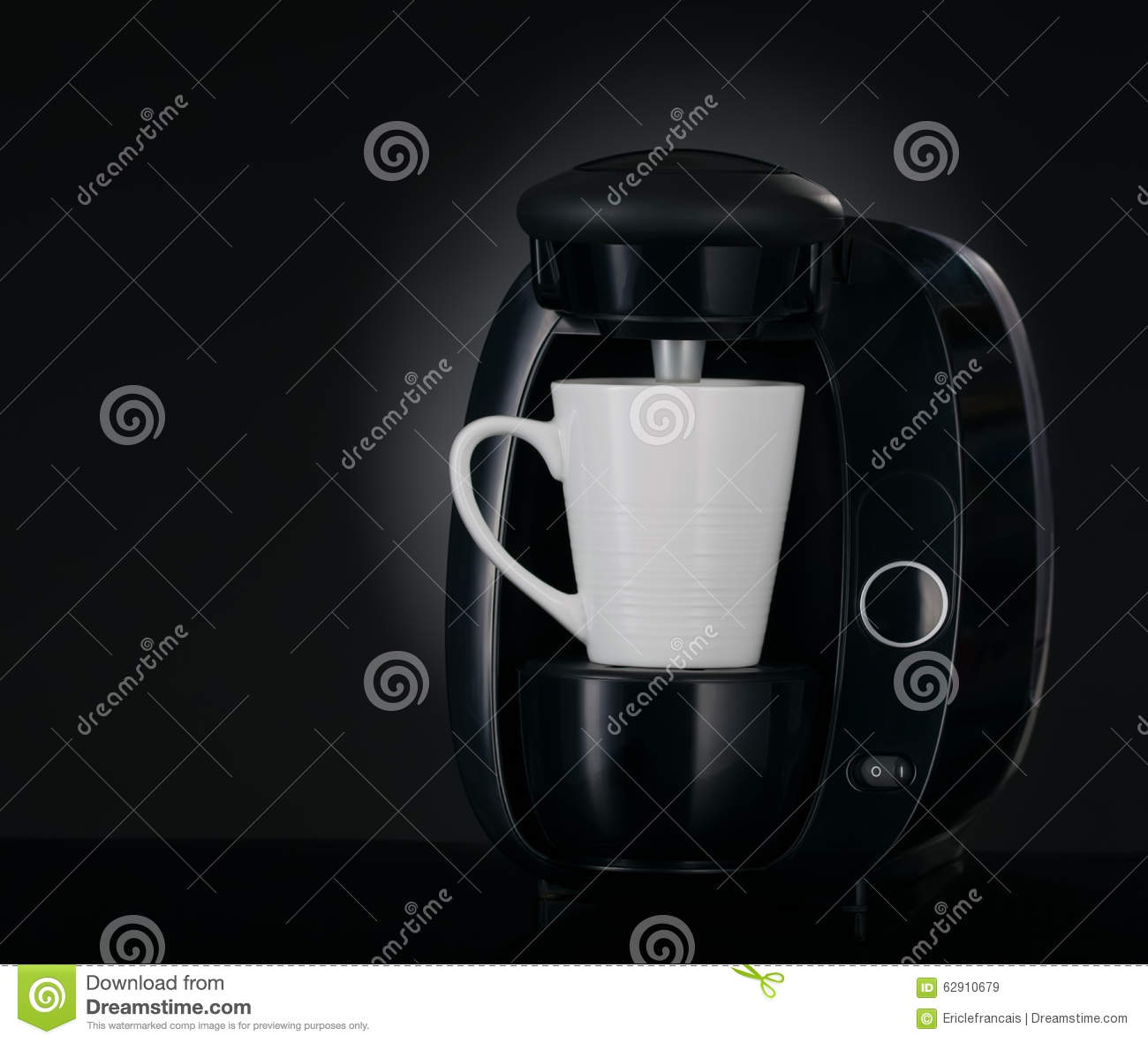 Modern coffee maker 3 4 view on black stock photo image for View maker