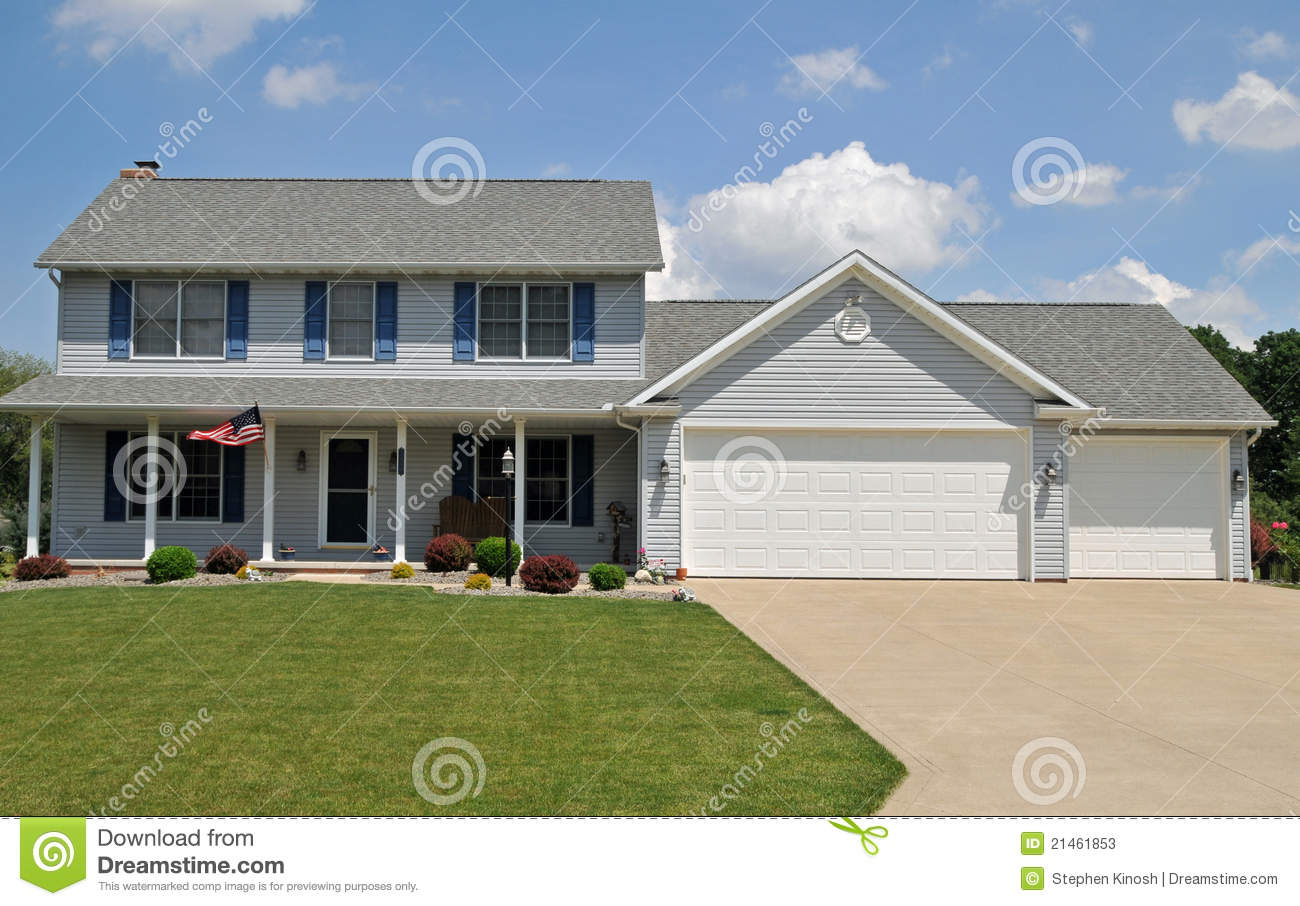 Modern Colonial Style Home Stock Photos Image 21461853