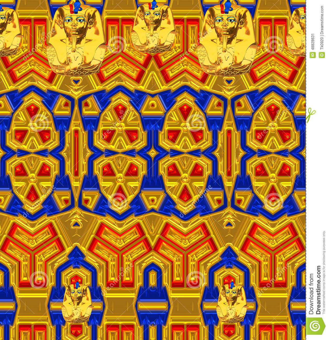 Egypt Wallpaper: Modern Colorful Background With Original Pattern And