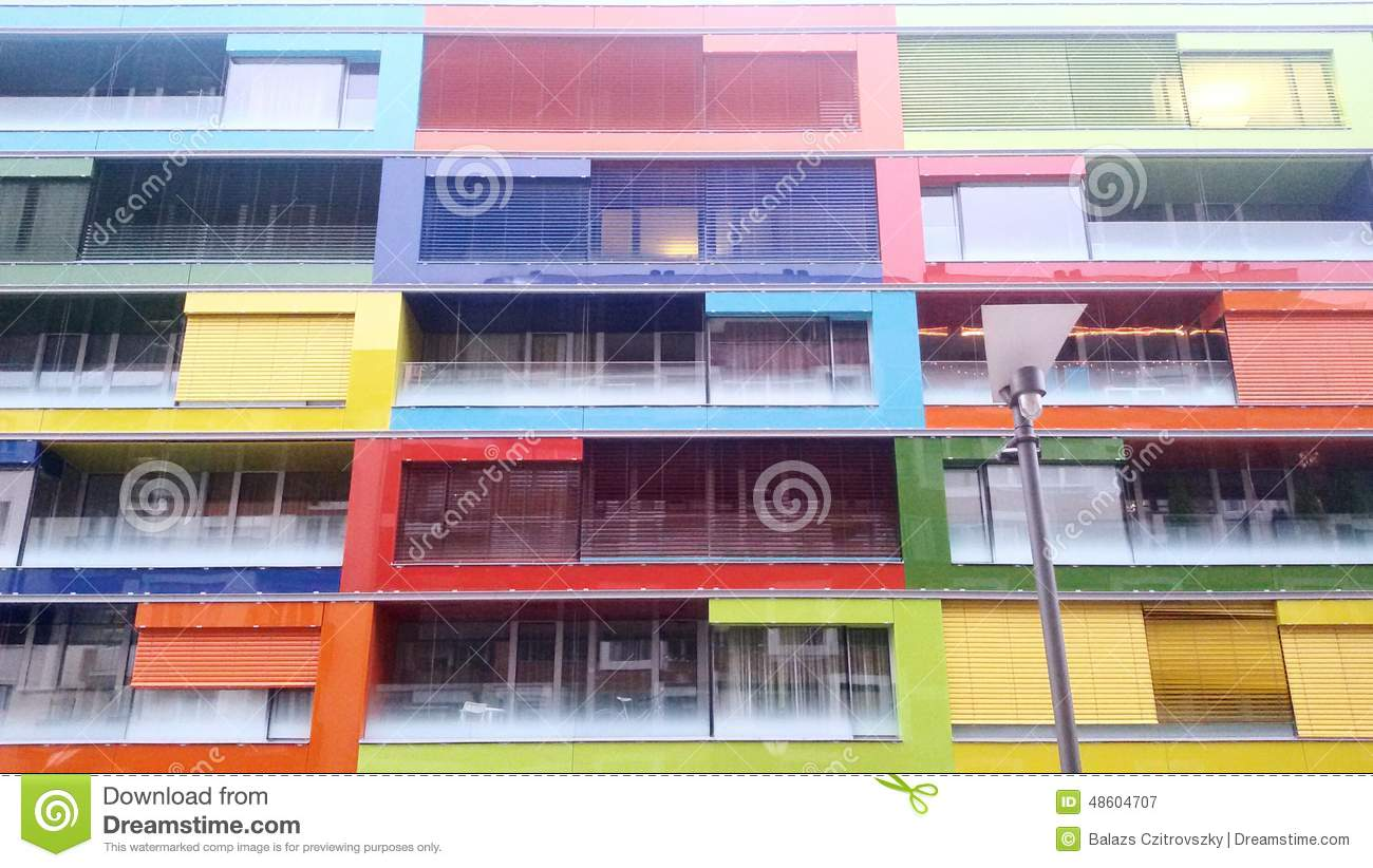 Modern colorful building