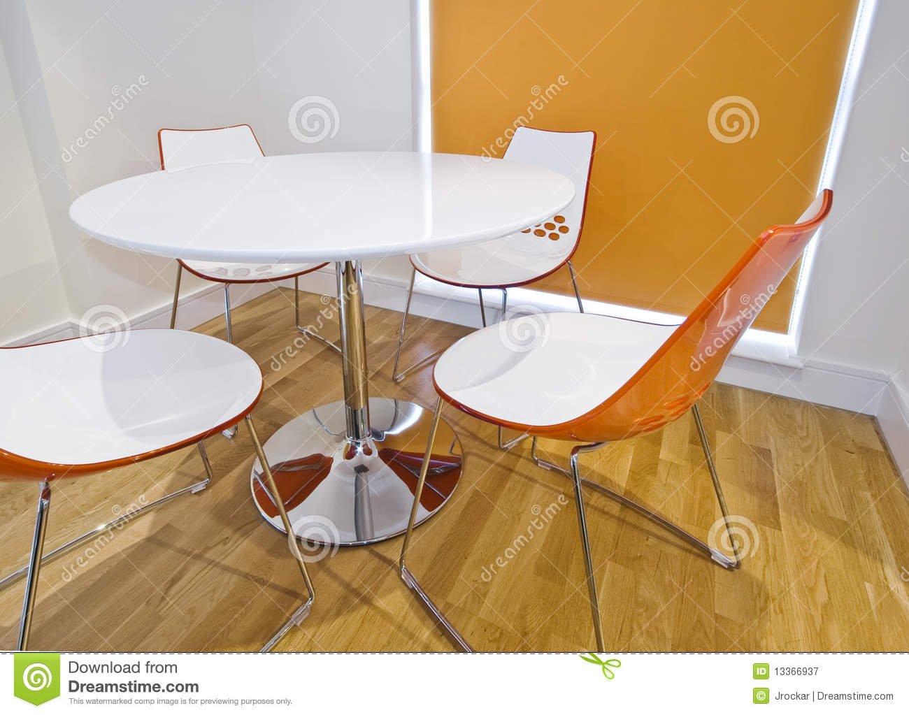 Modern Colorful Dining Table Stock Image - Image of four ...