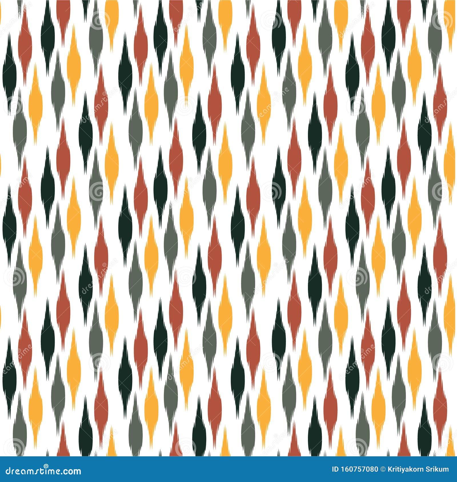 Modern Colorful Tribal Boho Iket Style Seamless Pattern Vector