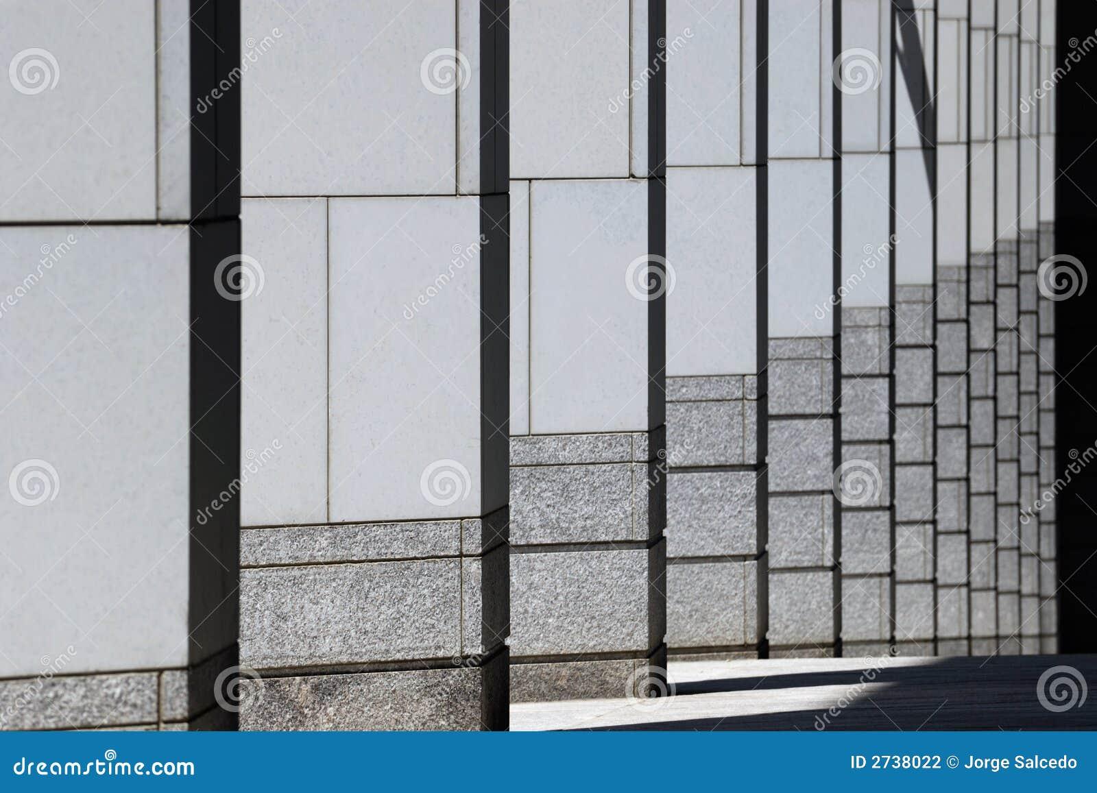 Modern Columns modern columns pattern stock photography - image: 2738022