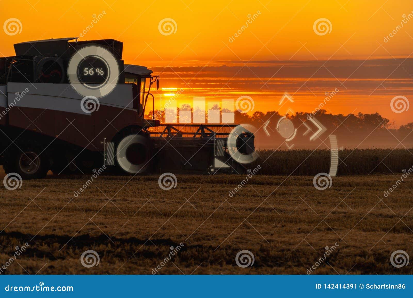 A modern combine harvester stock image  Image of harvesting - 142414391