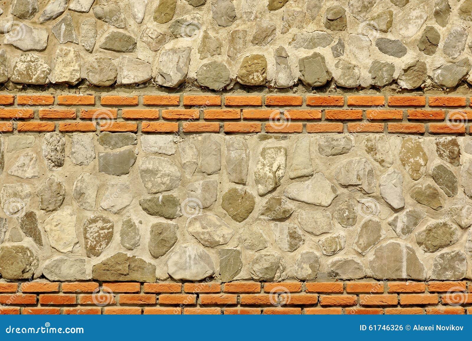 Modern Combo Masonry With Natural Stones And Bricks Texture Stock ...