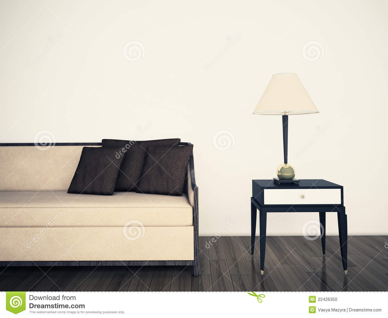 Modern comfortable interior with 3d rendering stock photo image 22426350 - Comfy interiors ...