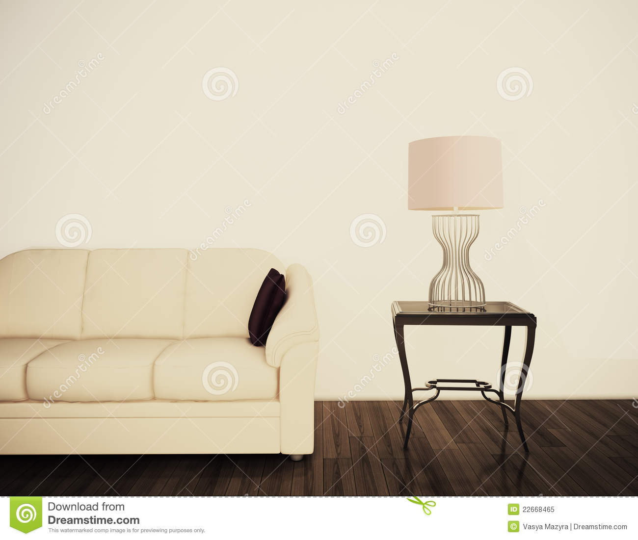 Modern comfortable interior with 3d rendering royalty free stock photo image 22668465 - Comfy interiors ...