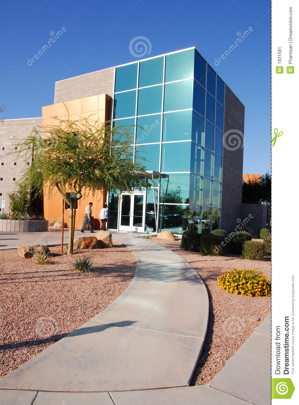 Modern commercial building stock image image 1931581 for Modern industrial building design