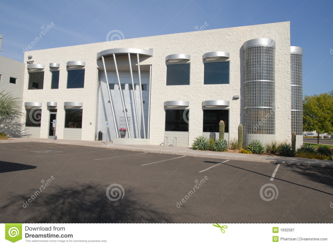 Modern commercial building royalty free stock photography for Contemporary commercial buildings