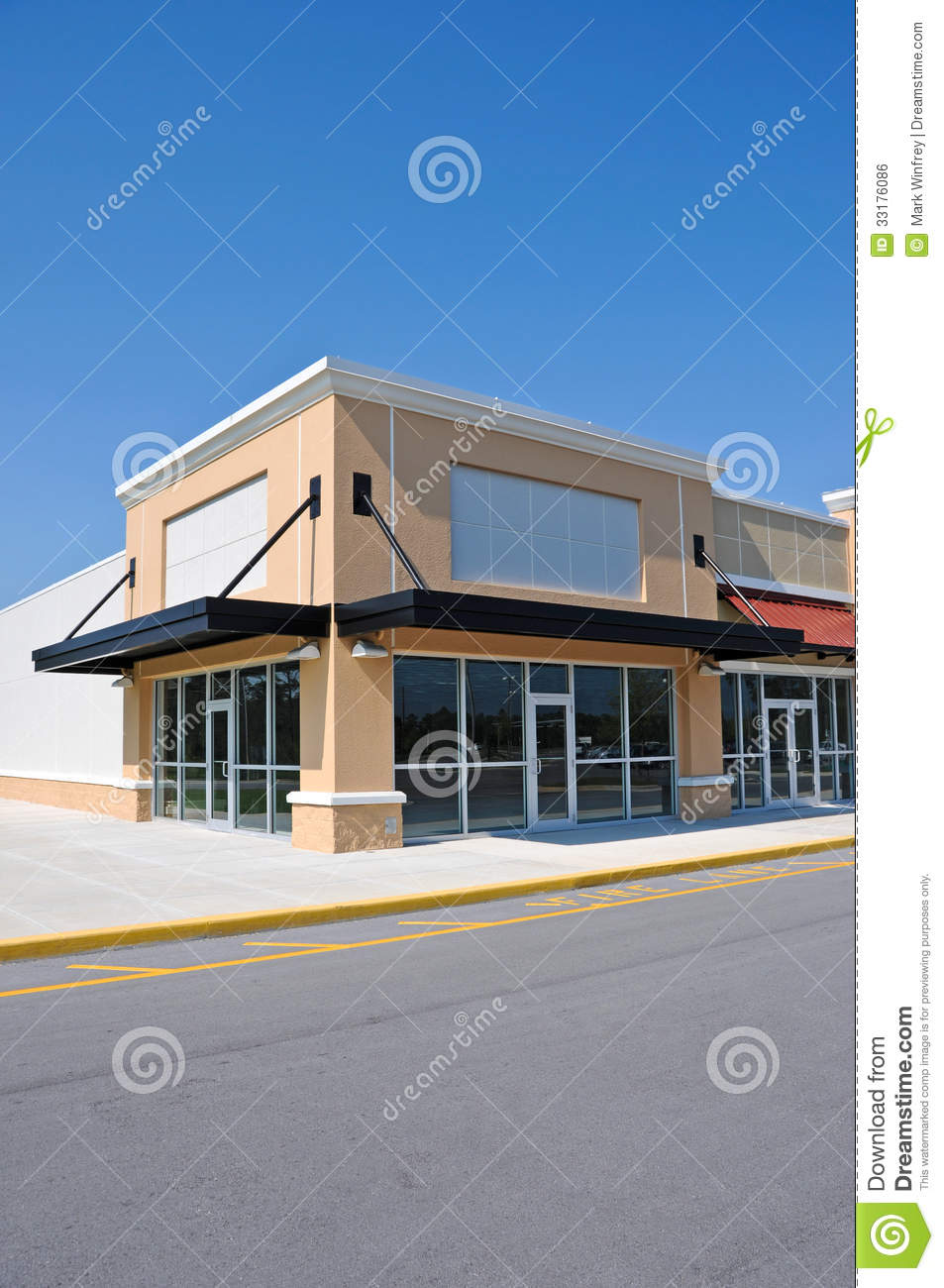 Modern commercial building royalty free stock image Building facade pictures