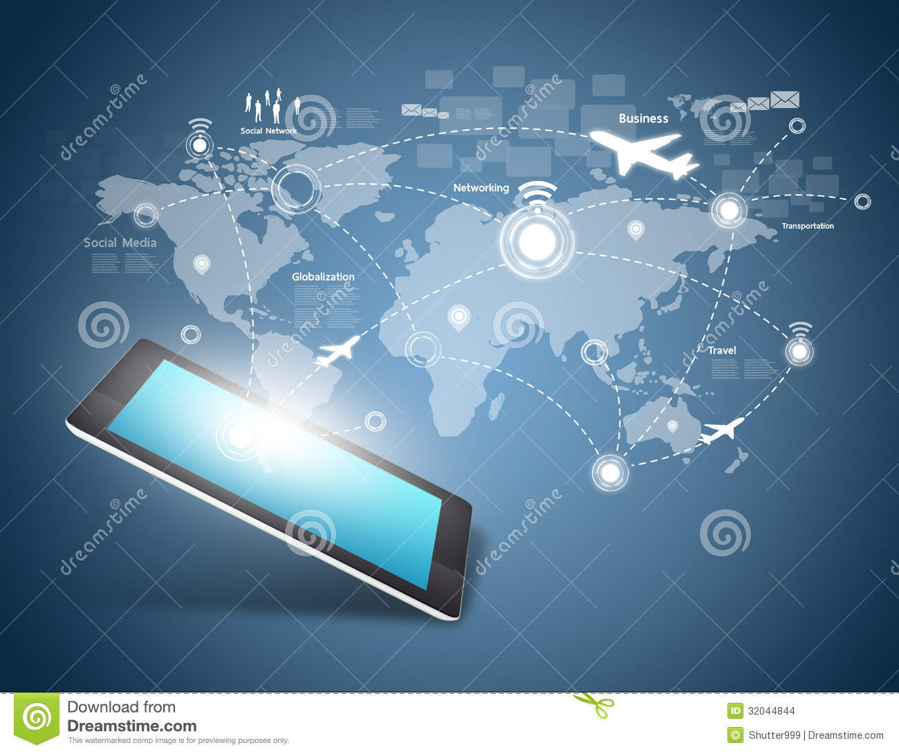Modern Communication Technology Stock Illustration ...