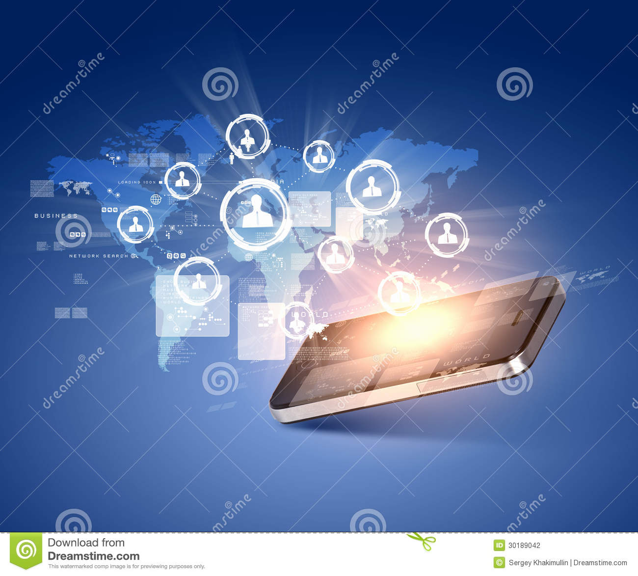 Modern Communication Technology Stock Photo - Image: 30189042