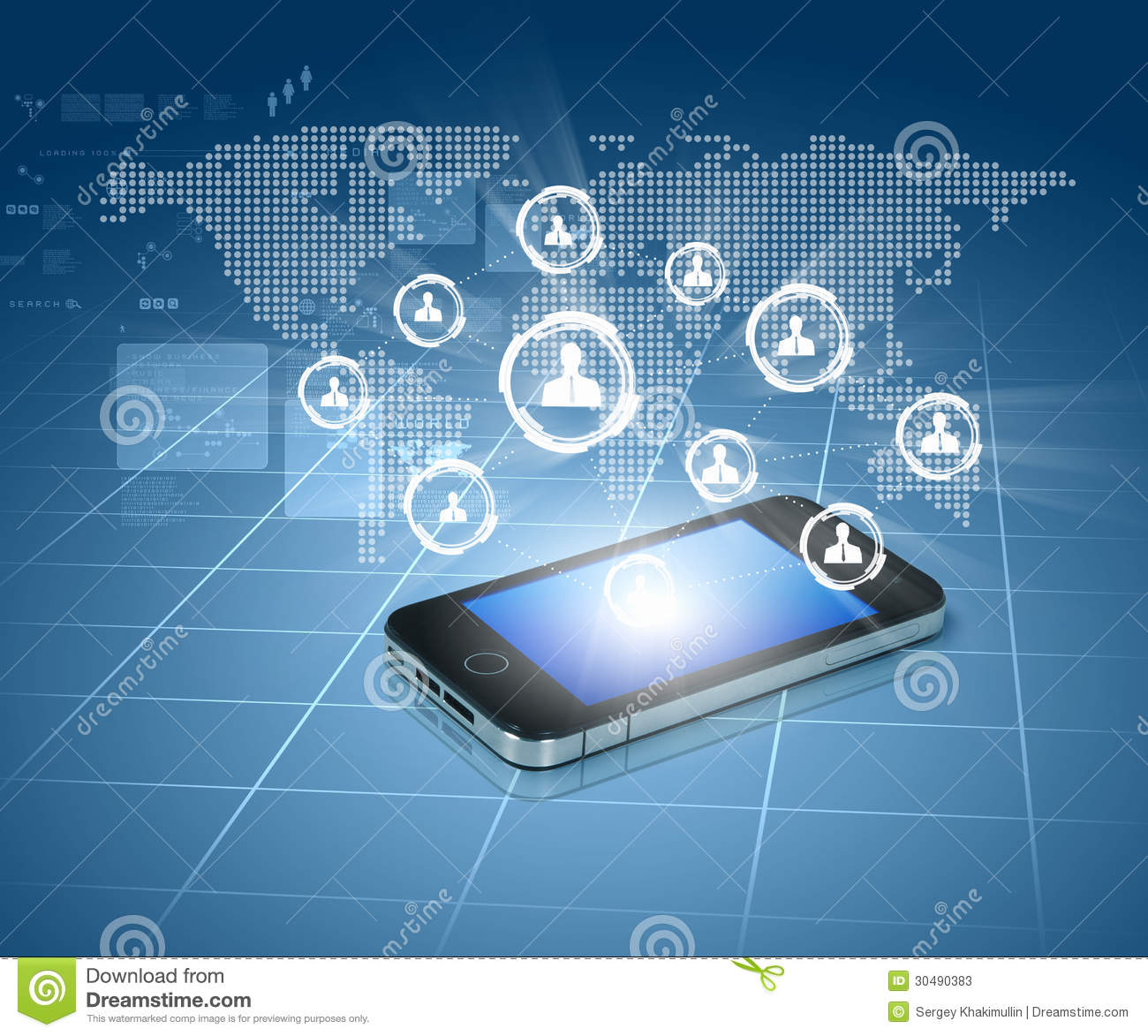 Modern Communication Technology Stock Photos - Image: 30490383