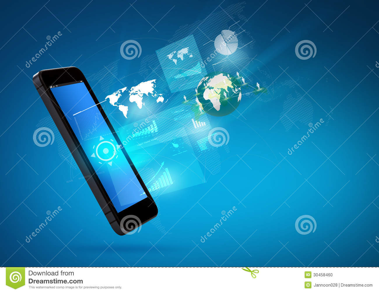 Mobile Technology: Modern Communication Technology Mobile Phone Stock Photo