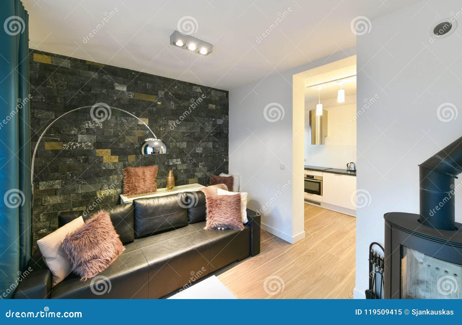 Modern studio apartment stock image. Image of architecture ...