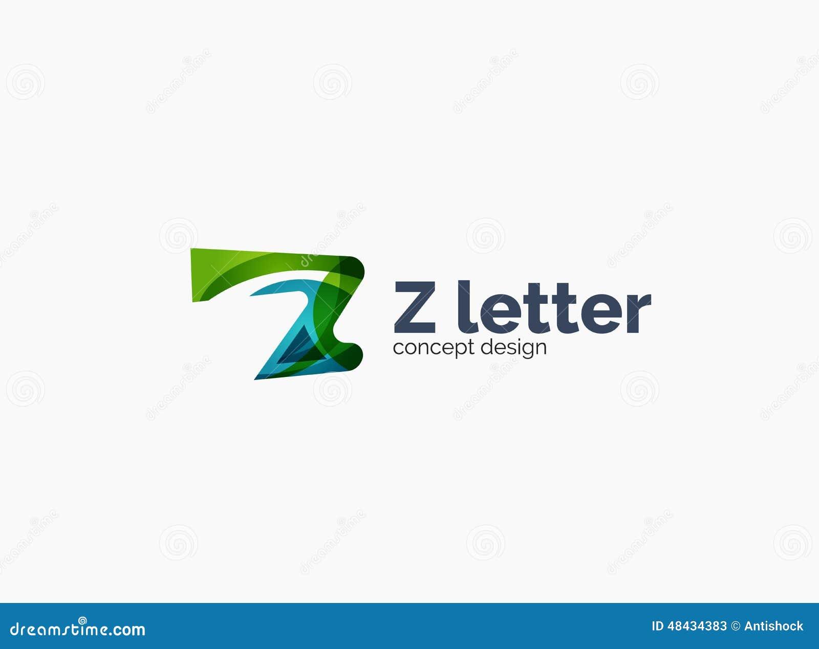 Modern Company Z Letter Logo Stock Vector - Image: 48434383