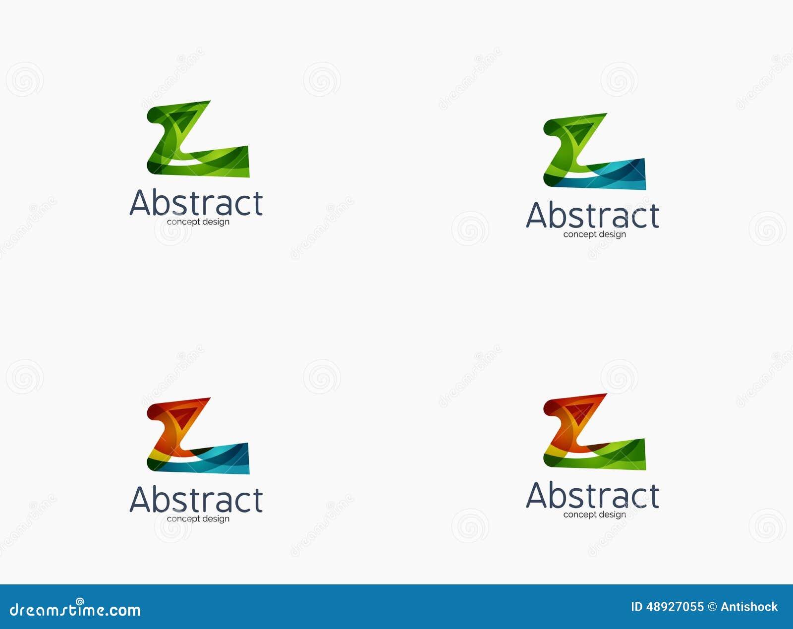 Modern Company Z Letter Logo Stock Vector - Image: 48927055