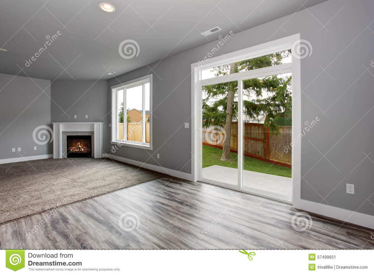 Interieur Maison Modern : Modern and completely gray interior of home. stock image image of
