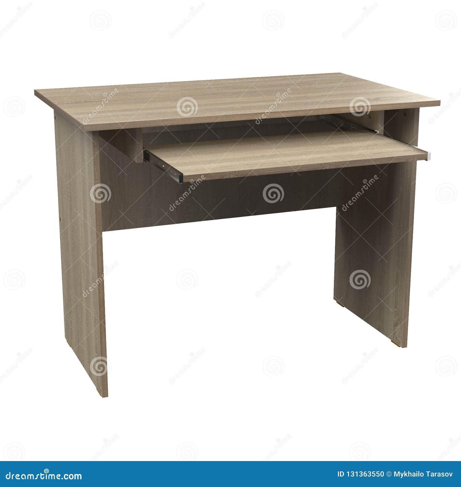 Computer Desk Chipboard Oak Stock Illustration Illustration Of Desktop Home 131363550