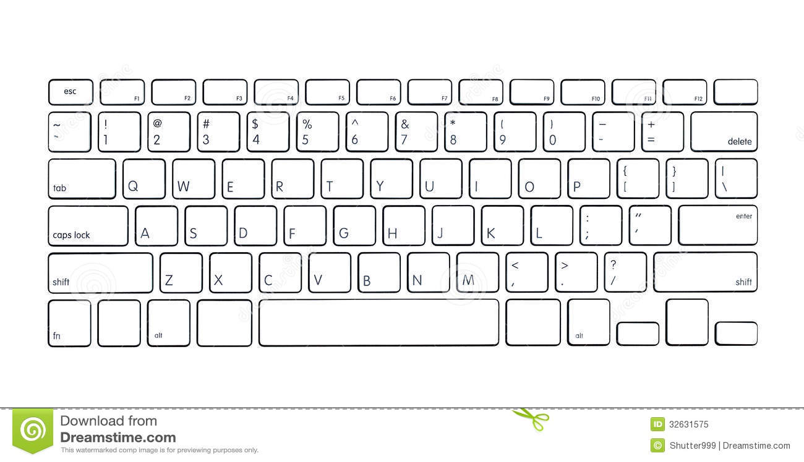 Modern computer keyboard stock illustration  Illustration of