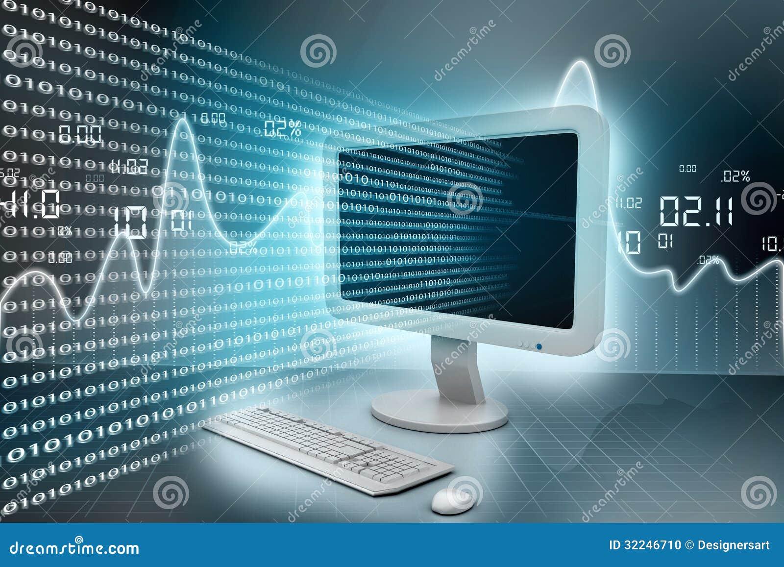Modern Computer Technology Stock Photo Image 32246710