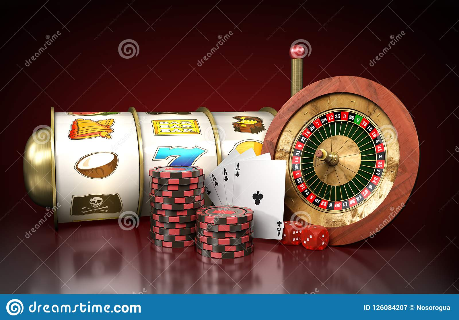 Modern concept of the casino logo roulette is surrounded by play