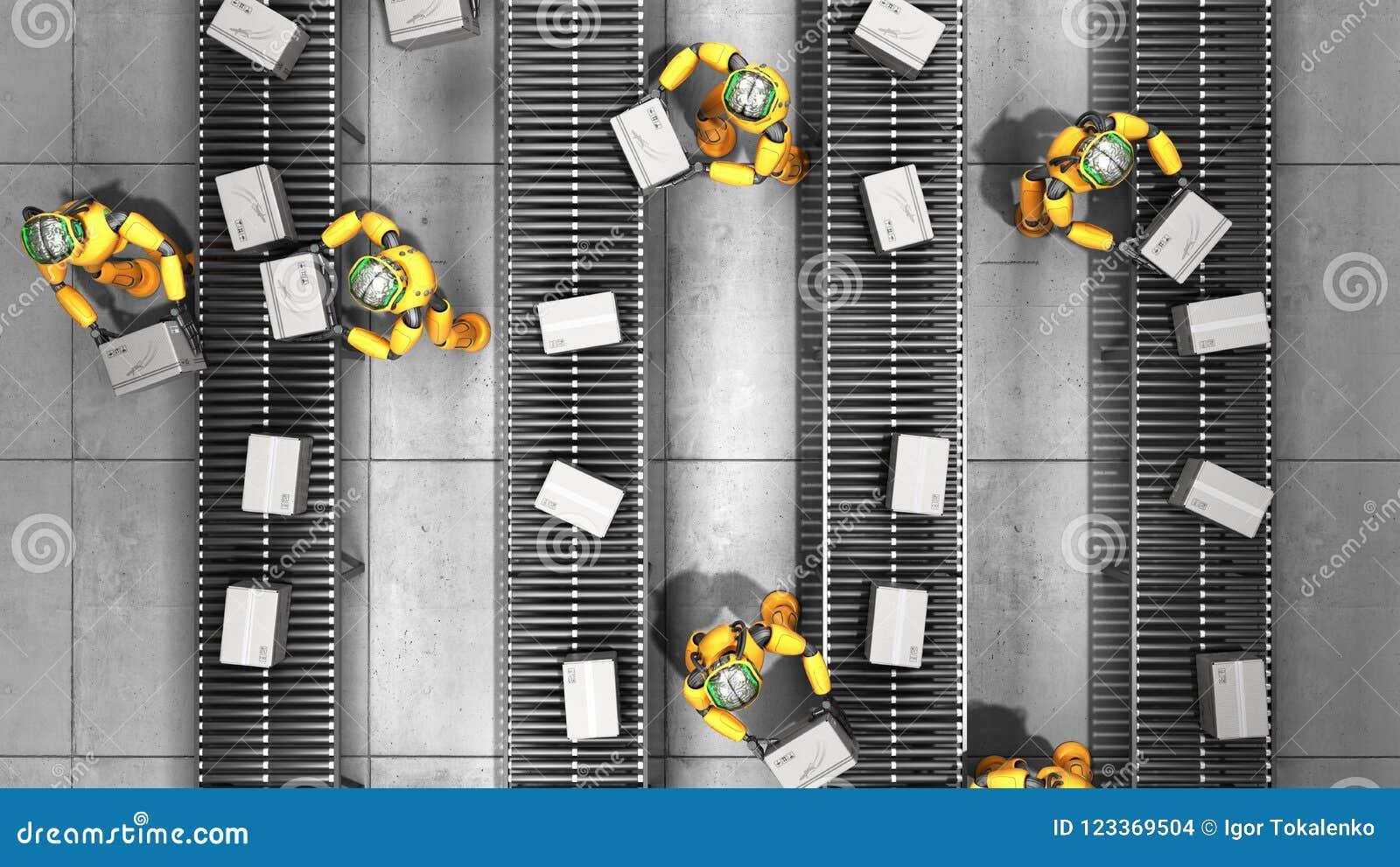 Modern concept het nauwkeurige geautomatiseerde sorteren in productie of del
