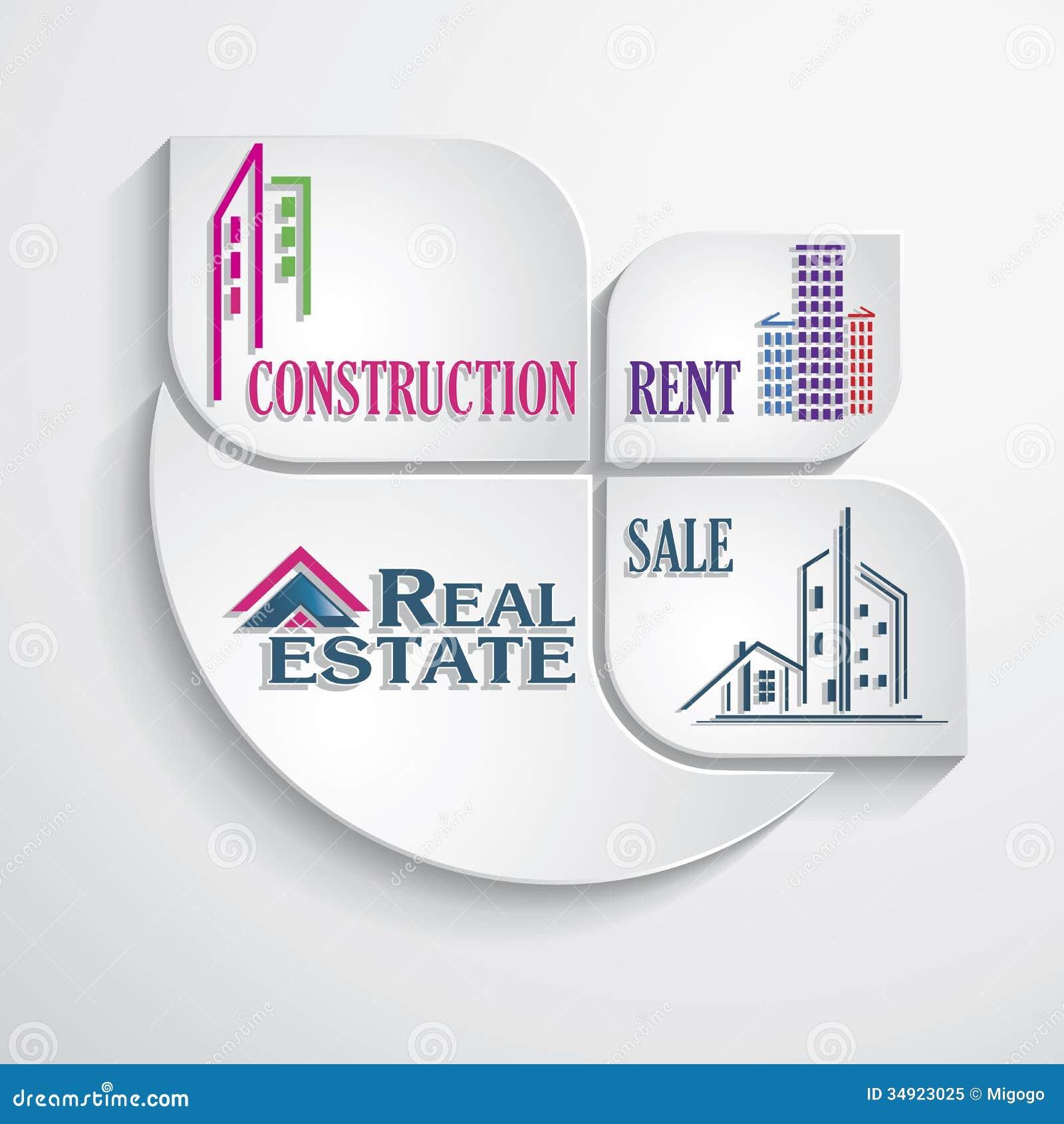 modern concept for real estate business design template royalty modern concept for real estate business design template