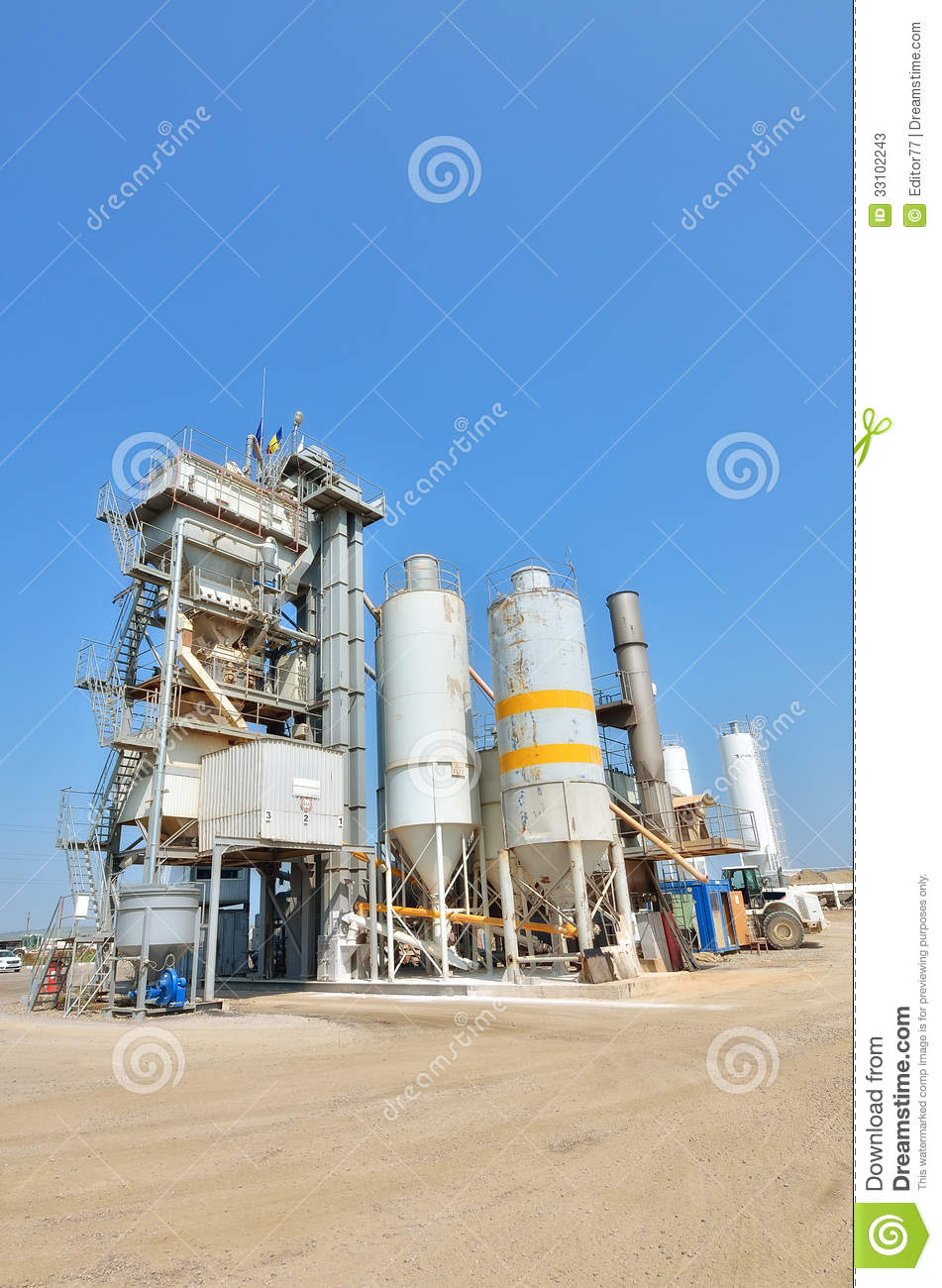 Modern Cement Plant : Concrete plant architecture stock photos image