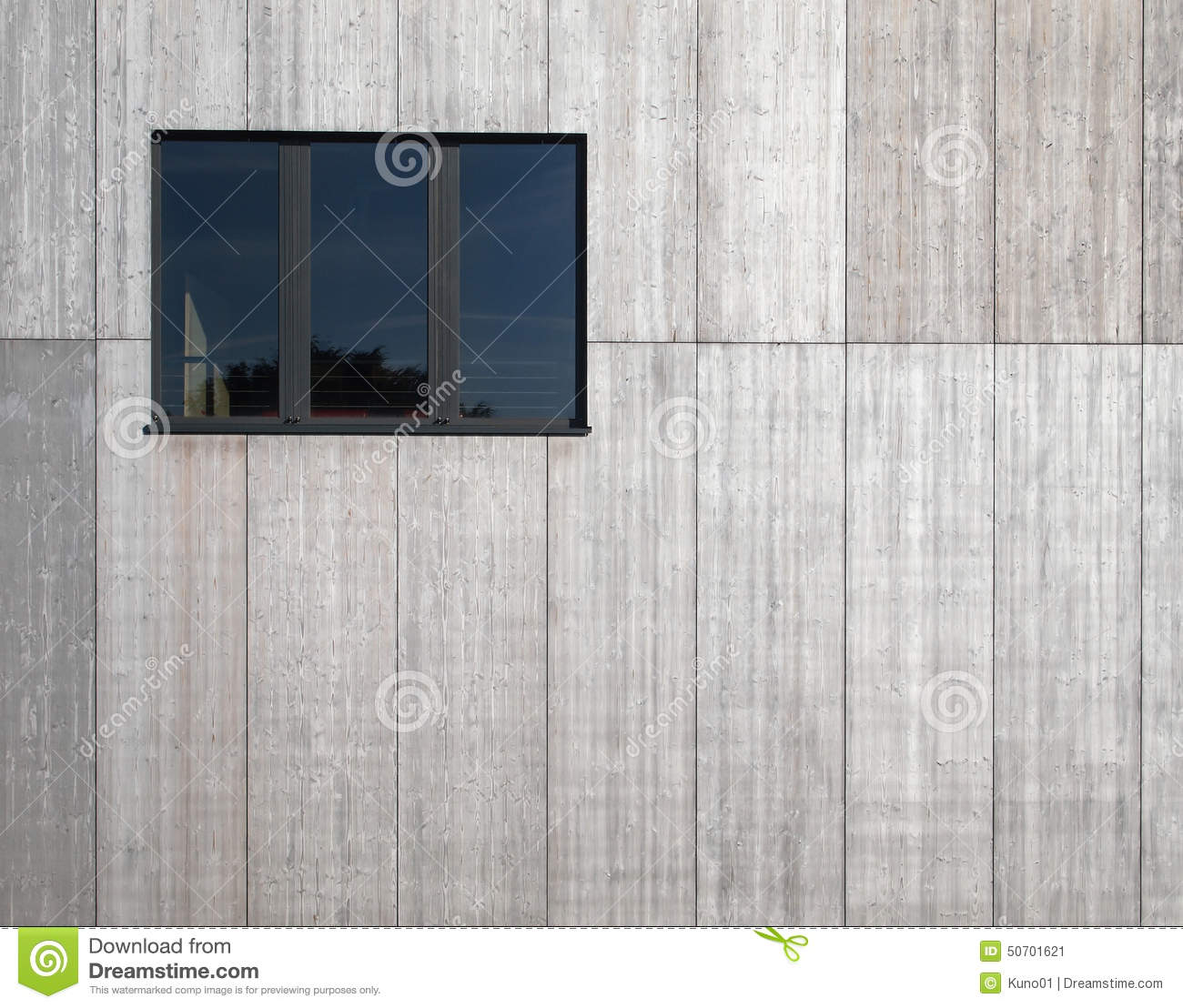 Modern Concrete Wall With Black Window Stock Photo Image