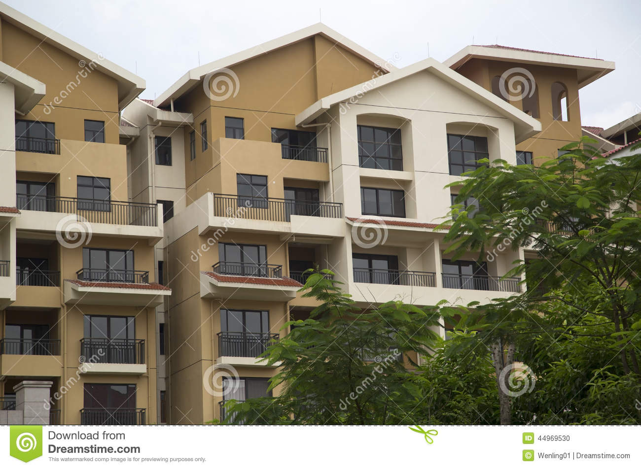 Modern condo buildings stock photo image of home for Beautiful modern buildings