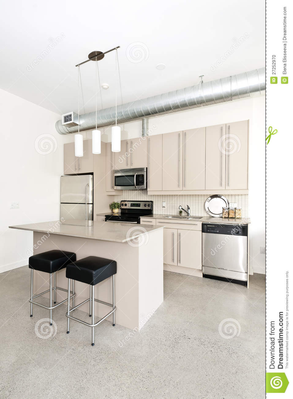 Modern Condo Kitchen Stock Photo. Image Of Condo