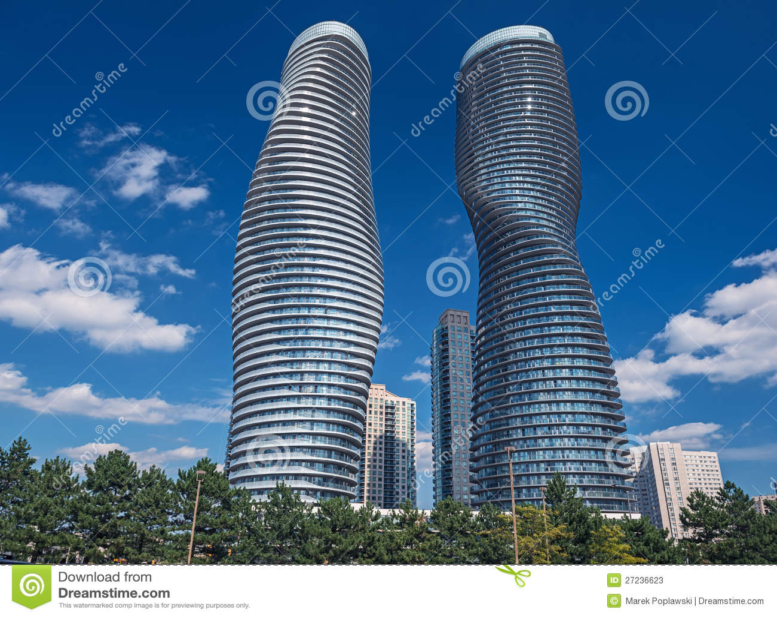 Modern Condos In Mississauga, Ontario Canada Stock Photos - Image ...