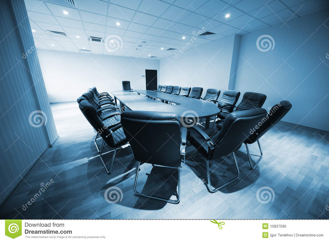 Modern Conference Room Stock Photo Image Of Nobody Indoors - Blue conference table