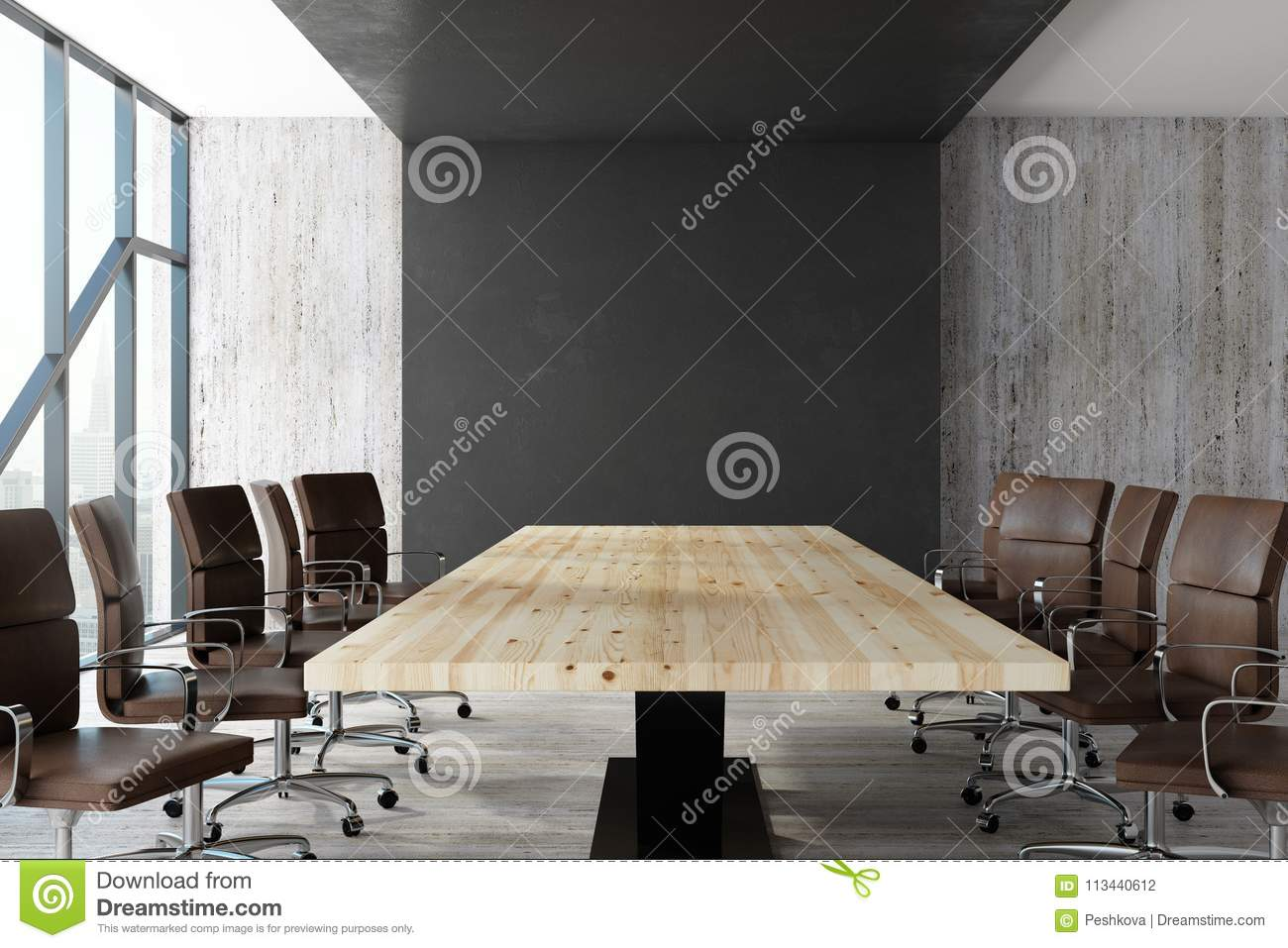 Download Modern Conference Room Stock Photo. Image Of Glass, Management    113440612