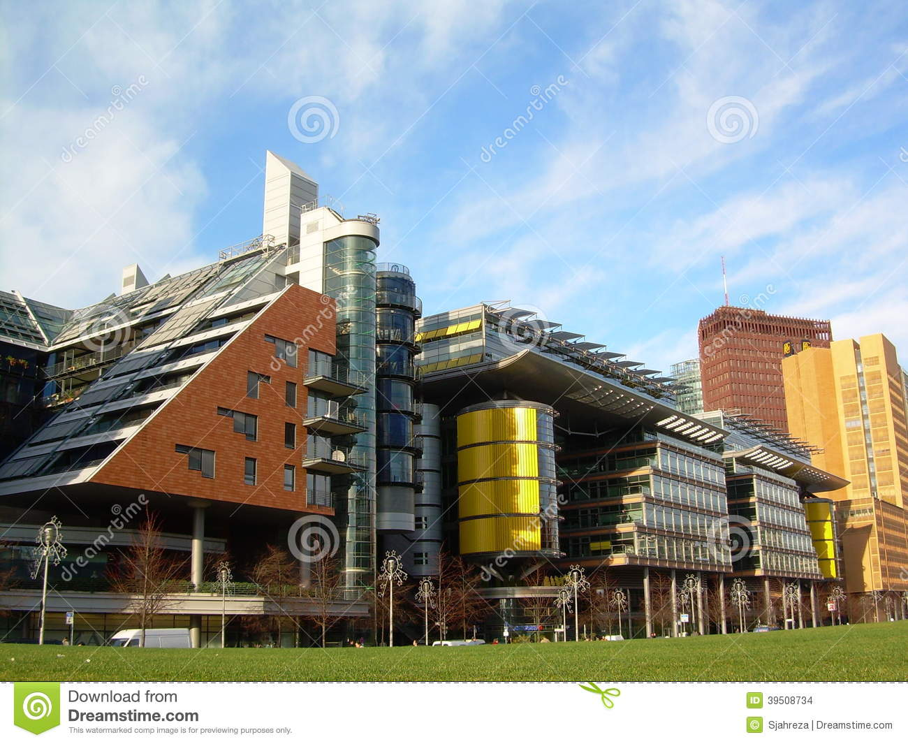 Download Modern Contemporary Buildings Stock Photo - Image of iconic, public: 39508734