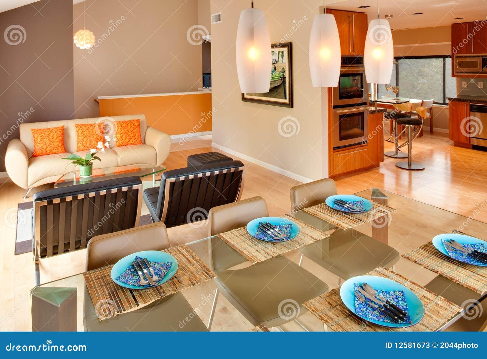 Modern Contemporary Residential Interior Stock Photos