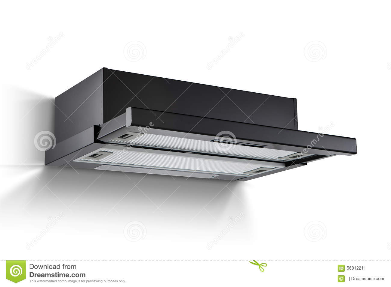 Modern cooking hood kitchen extractor stock photo image for Extractores de cocinas