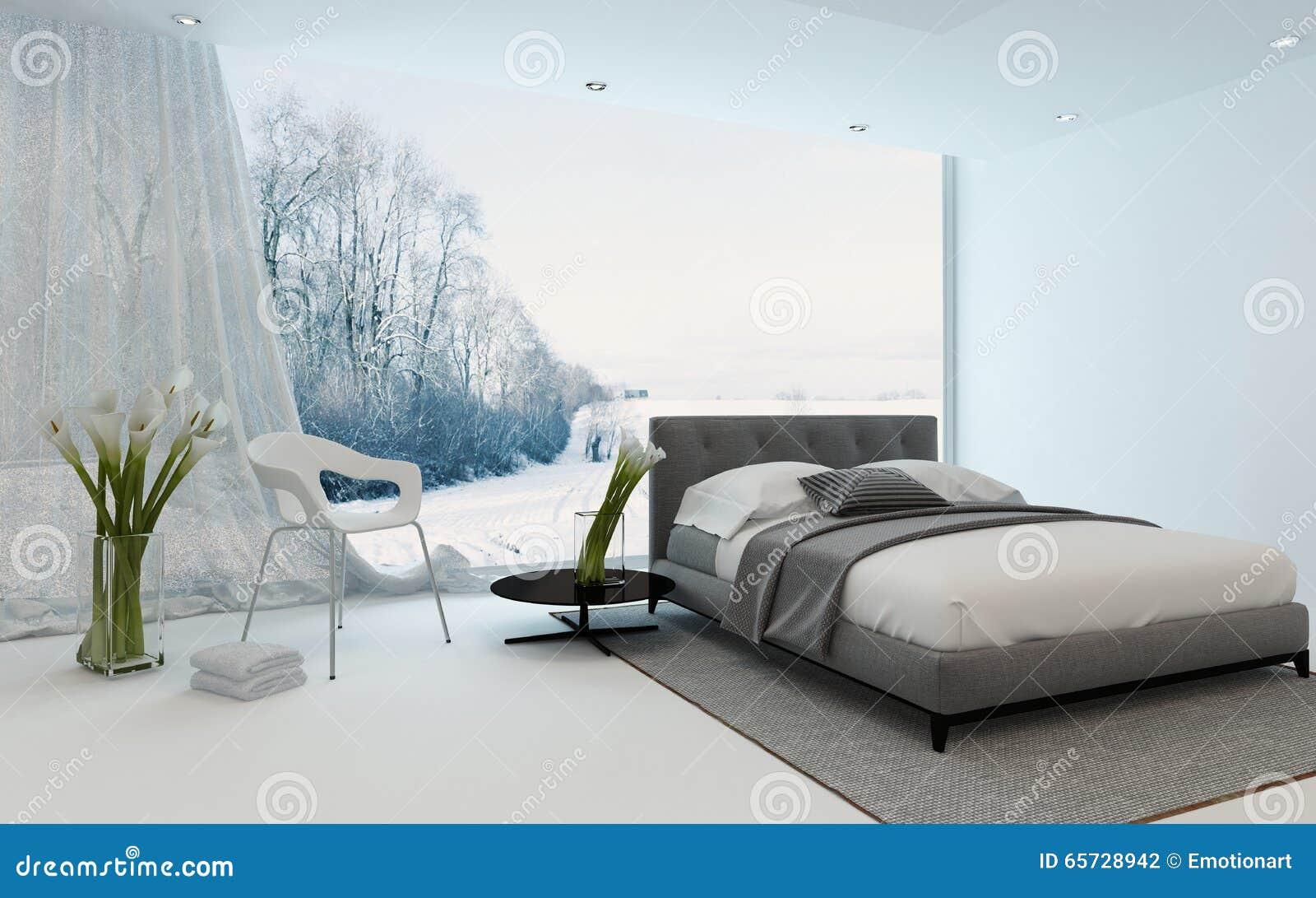 Royalty Free Illustration Download Modern Cool Bedroom Interior Overlooking