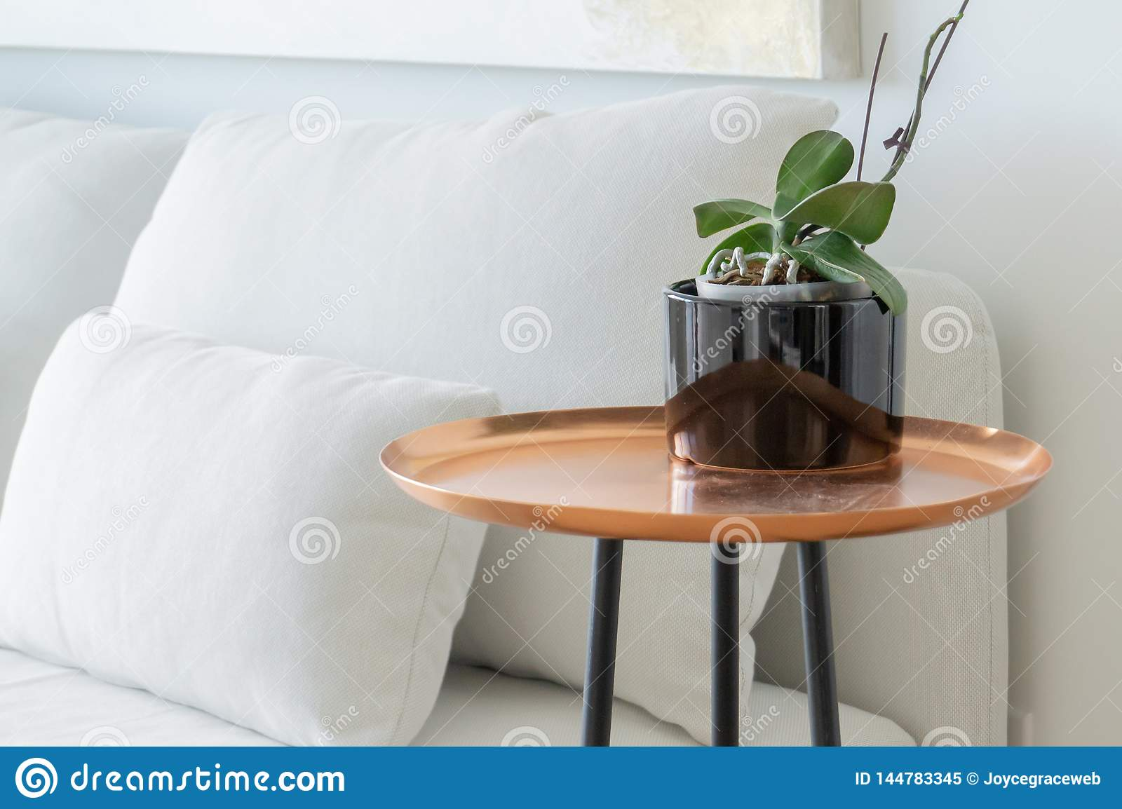 Surprising Copper Tray Side Table With Black Legs Next To A White Pdpeps Interior Chair Design Pdpepsorg